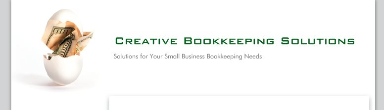 Creative Bookkeeping Solutions - Solutions for Your Small Business Bookkeeping Needs
